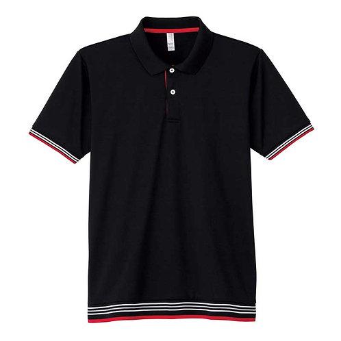 裾ラインリブポロシャツ【MS3117】(無地価格)