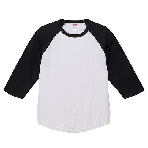 5.6オンス ラグラン 3/4スリーブ Tシャツ【5045-01】(無地価格)