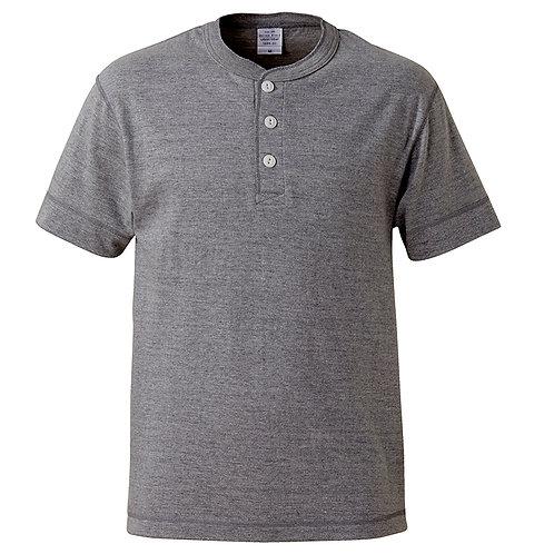 5.6オンス ヘンリーネック Tシャツ【5004-01】(無地価格)