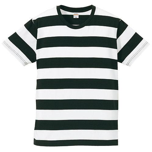5.0オンス ボールドボーダー ショートスリーブ Tシャツ【5518-01】(無地価格)