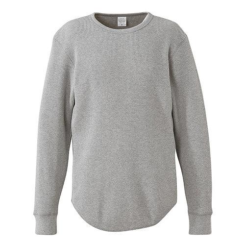 10.3オンス ヘヴィーウェイト ワッフル ロングスリーブ Tシャツ【3960-01】(無地価格)