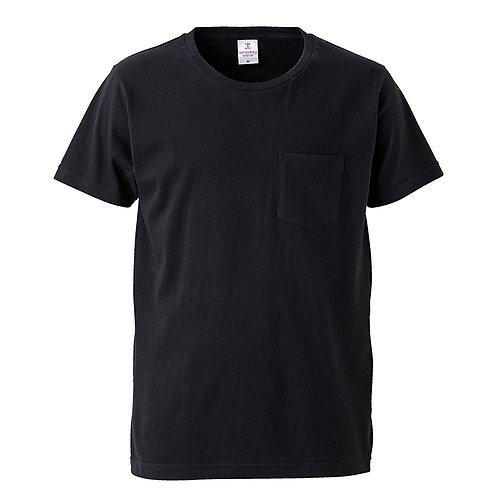 4.7オンス ファインジャージー Tシャツ(ポケット付)【5747-01】(無地価格)