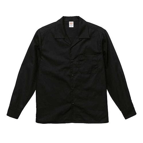 T/C オープンカラー ロングスリーブ シャツ【1760-01】(無地価格)