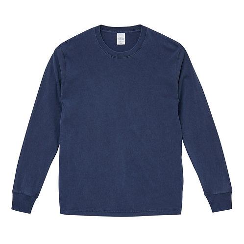 5.6オンス ピグメントダイ ロングスリーブ Tシャツ【5021-01】(無地価格)