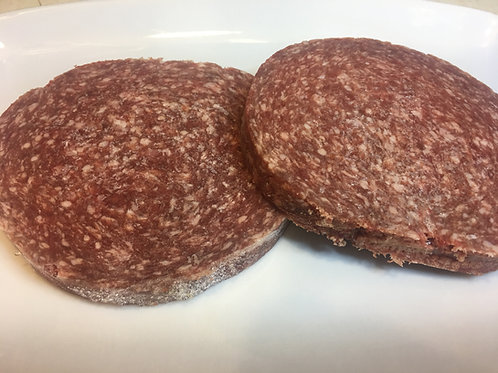lean locally raised ground beef hamburger patties