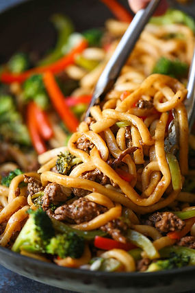 A Bowl of Stir-fried Noodle
