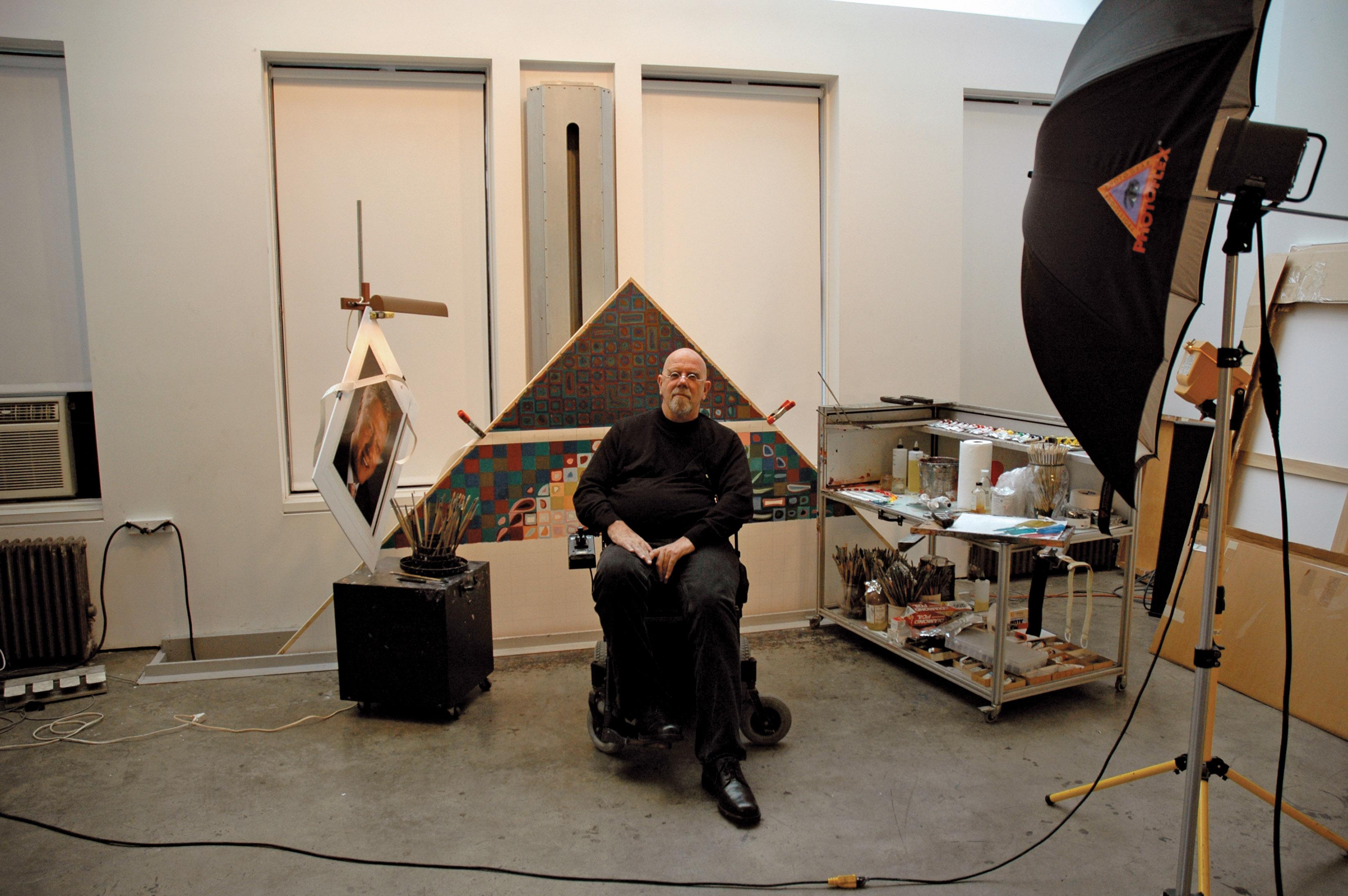 Chuck Close, NoHo 2006
