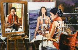 Working (Triple Portrait): Frida