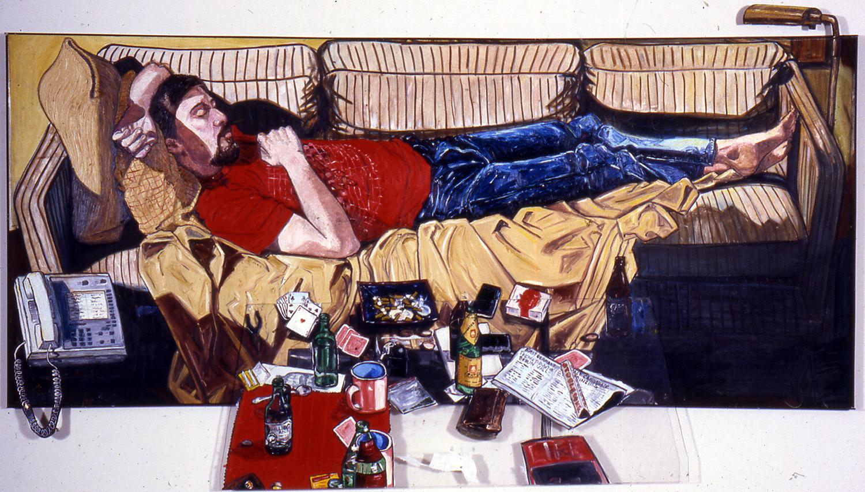 Modern Day Apostle Sleeps Off a Roug