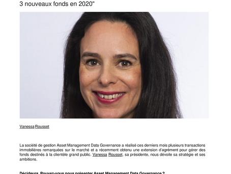 AMDG lance trois nouveaux Fonds en 2020