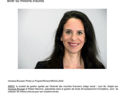La société de gestion AMDG de Vanessa Rousset  vient de lever 50 million d'euros