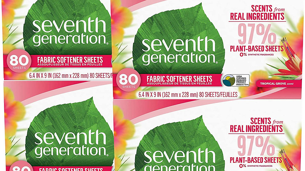 Fabric Softener Sheets (4 pack, 320 sheets, scent varies)