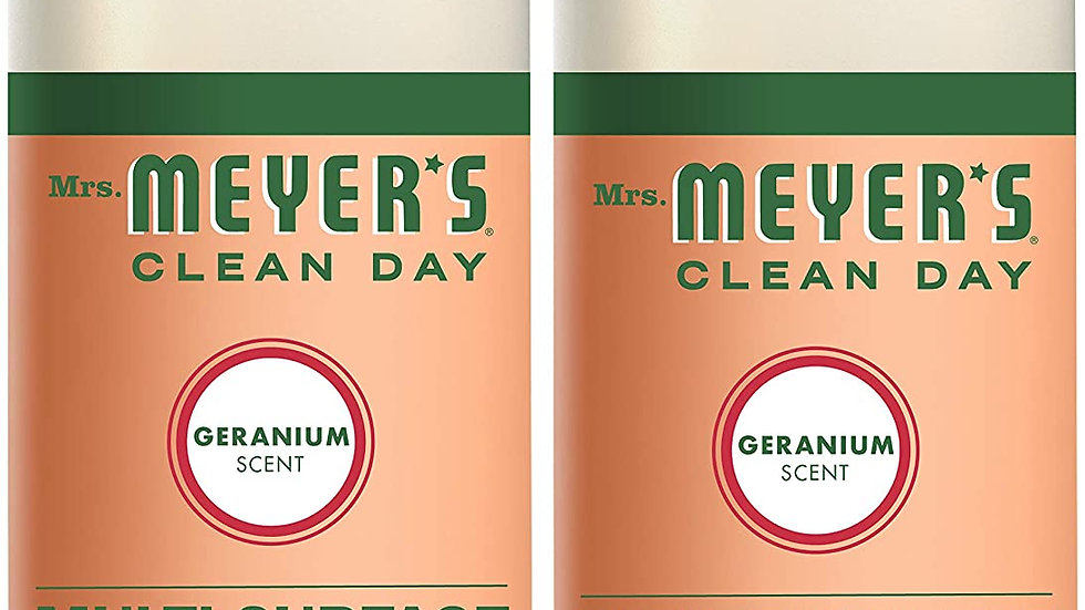 Multi-Surface Cleaner (2 pack, 32 oz, Geranium Scent, Concentrate)