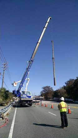 Setting Steel Poles Dunnellon