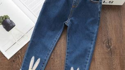 Girls Cartoon Rabbit Ball Trousers Pencil Leggings