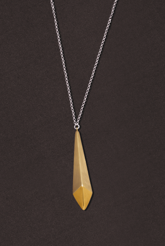 Multi-Finish Gold Spike Necklace...SOLD
