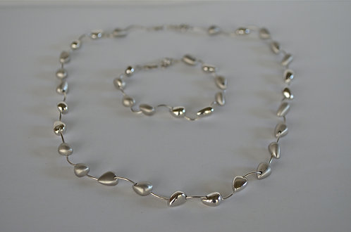 Brushed Matte Silver and High Polish Silver...SOLD