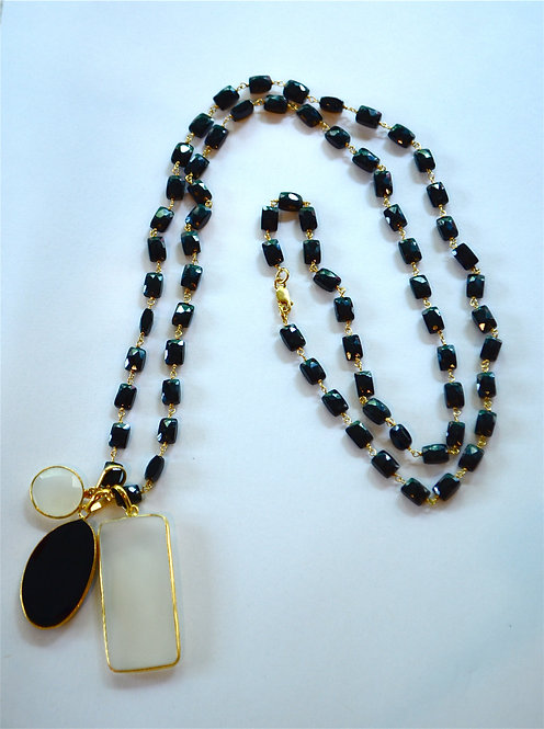 Black Onyx Long Necklace...SOLD