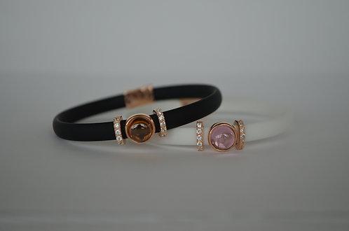 Black/Orange Single Strand Italian Bracelet