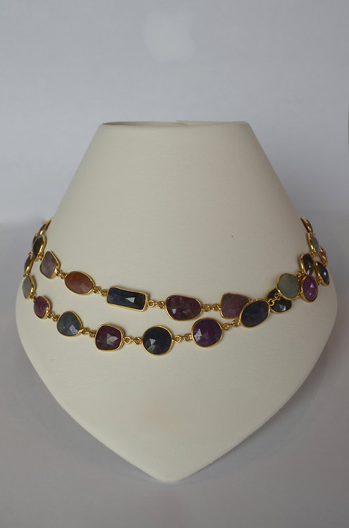 Natural Sapphire Handmade Necklace...SOLD