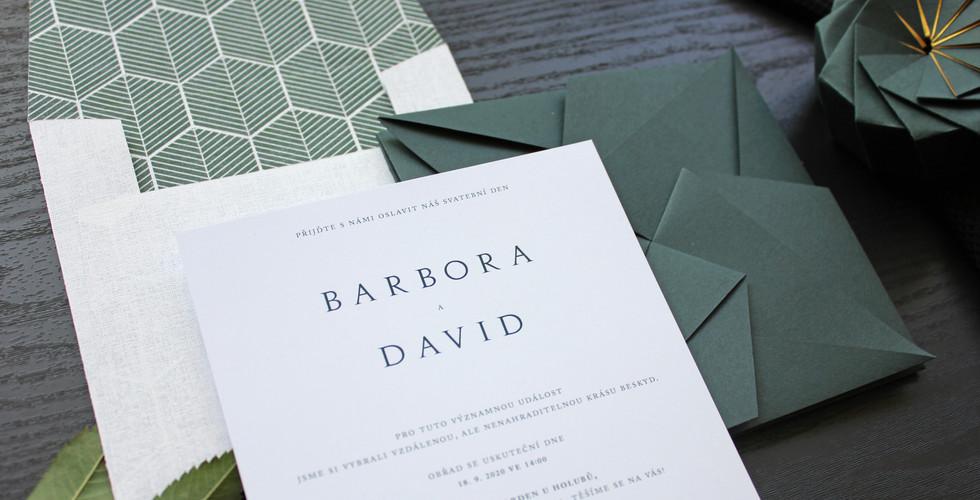 Dark Green Origami Invite [3].JPG