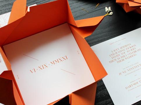 Rust Modern Origami Wedding Invite [3].J