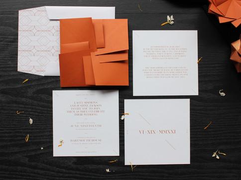 Rust Modern Origami Wedding Invite [1].J