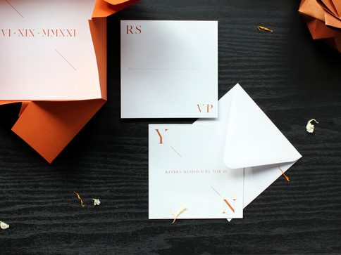 Rust Modern Origami Wedding Invite [2].J
