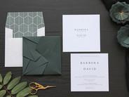 Dark Green Origami Invite [1].JPG