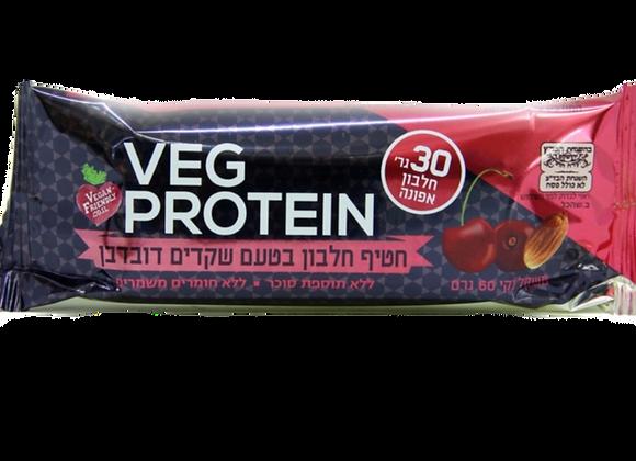Veg protein- חטיף חלבון בטעם שקדים דובדבן