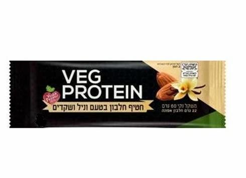 Veg protein-חטיף חלבון בטעם וניל שקדים