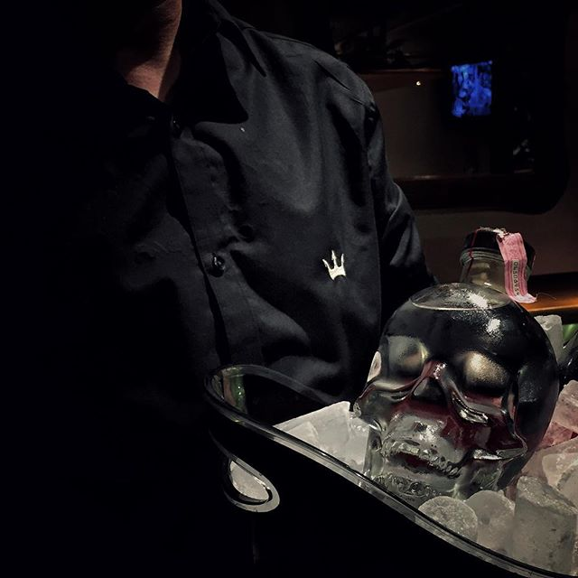 Chilled Crystal Head vodka