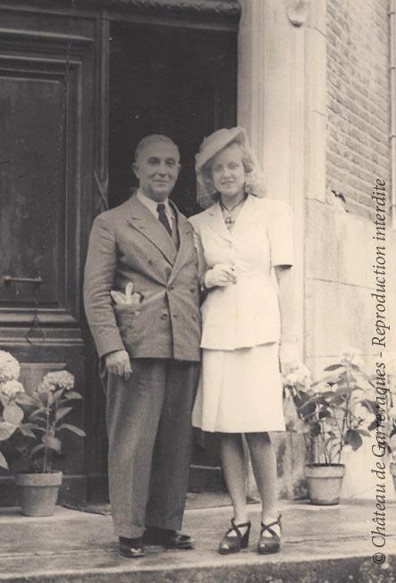 1946 - Maded et Papus, son beau père