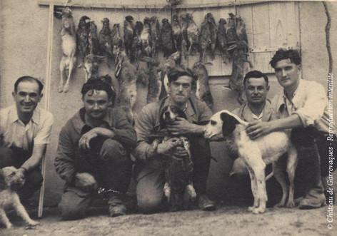 Augustin Ourliac (vacher) et Batigne (fermier), Paul Coste (régisseur) René Puginier