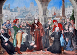 After French Revolution and the adoption of Civil Constitution of the Clergy, Margueritte de Gineste de Najac helped persecuted priests.