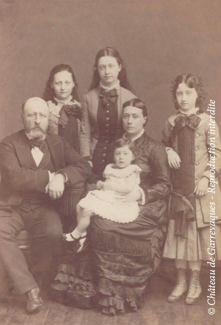 1881 - Famille du comte Henry de Gineste