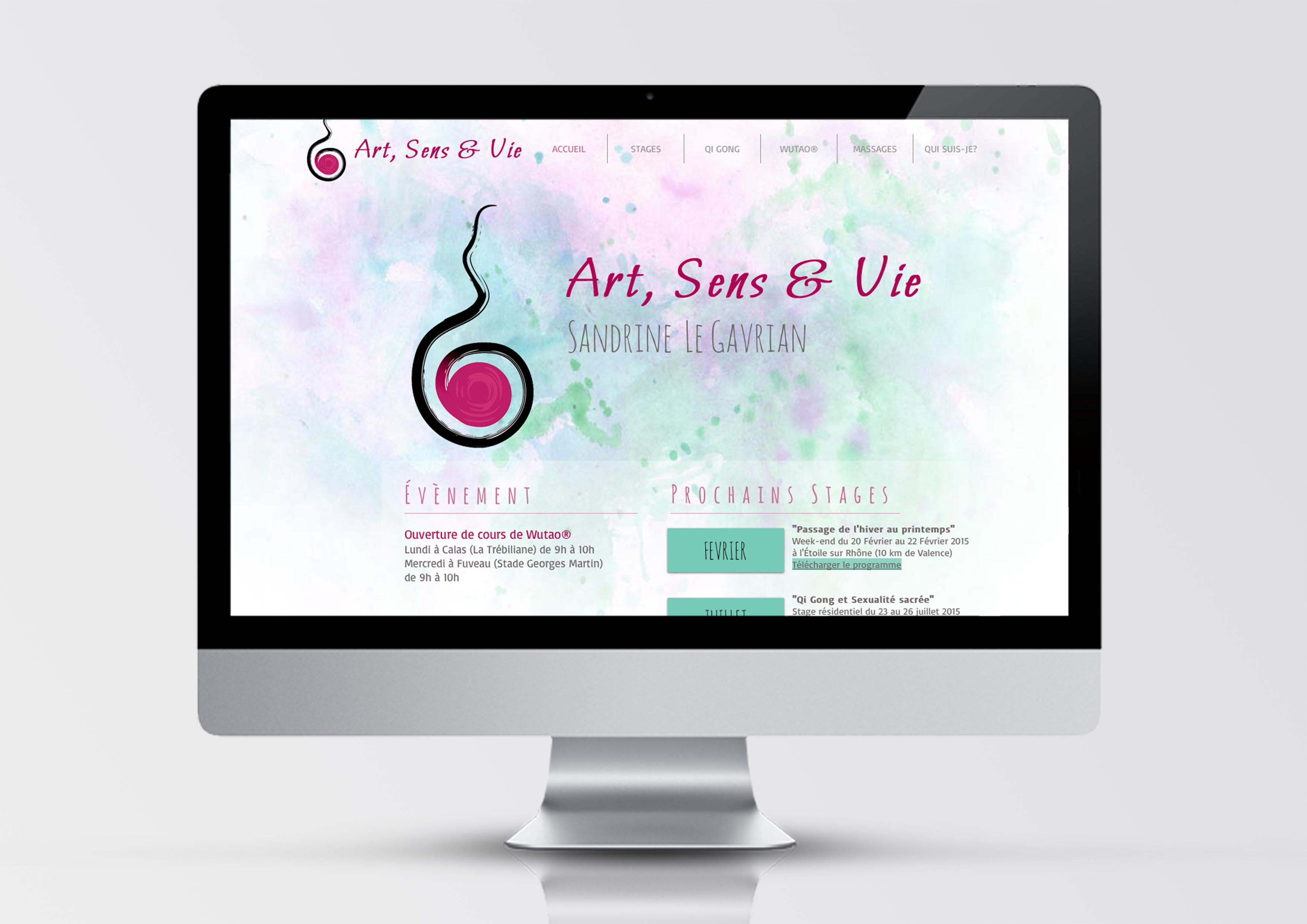 Site internet Art Sens et Vie