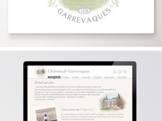 CHATEAU DE GARREVAQUES, conception du logo et du site internet
