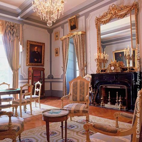 Salon bleu Château de Garrevaques
