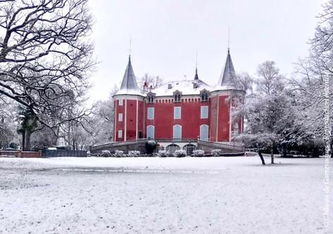 chateau de Garrevaques en hiver