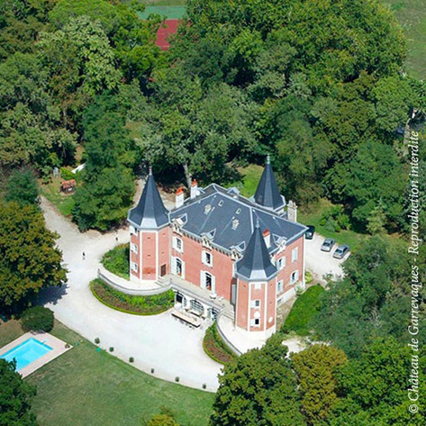 château de Garrevaques from the sky!