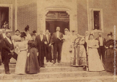 1897 - Lucy de Gineste and Max Bazin's wedding
