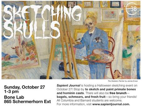 Sketching Skulls: Halloween Edition!
