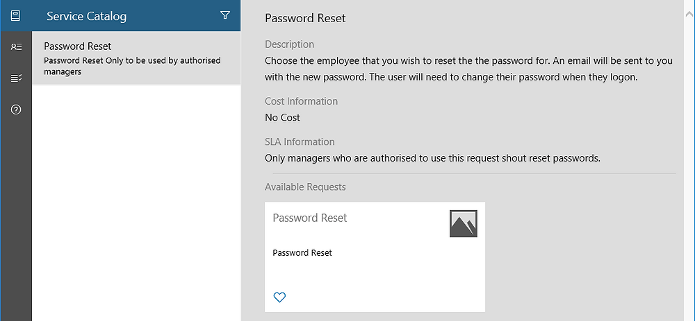 SCSM Self-Service Password Reset Service Offering