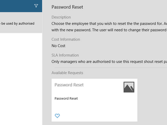 Password Reset via Self Service Portal