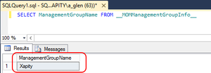 Get SCSM Management Group Name using a SQL query
