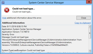 SCSM 2016 Exchange Connector - Could not load type