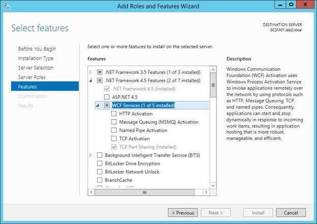 SCSM 2016 Install/Upgrade - Prerequisit - Microsoft .NET Framework 4.5