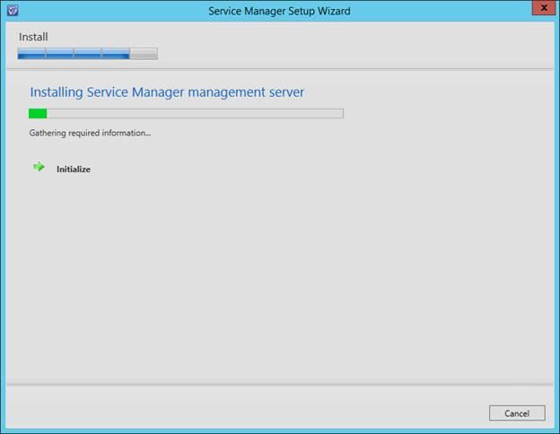 SCSM 2016 Install/Upgrade - Installing