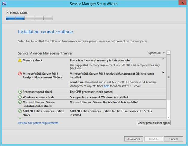 SCSM 2016 Install/Upgrade - Prerequisite - Microsoft SQL 2016 Analysis Management Objects (AMO)